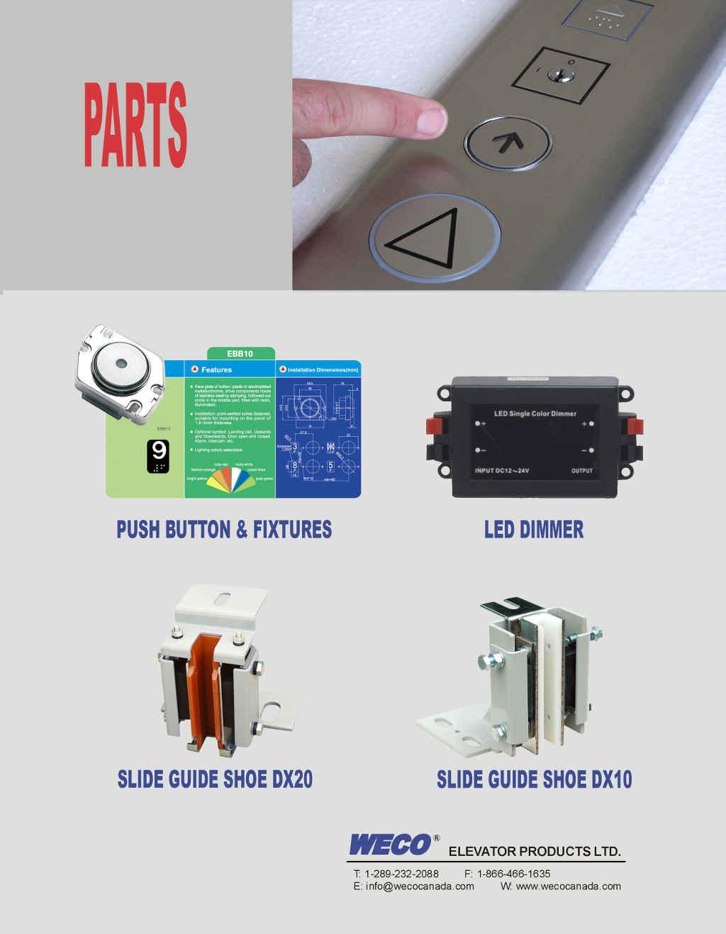 Elevator Parts | WECO Canada